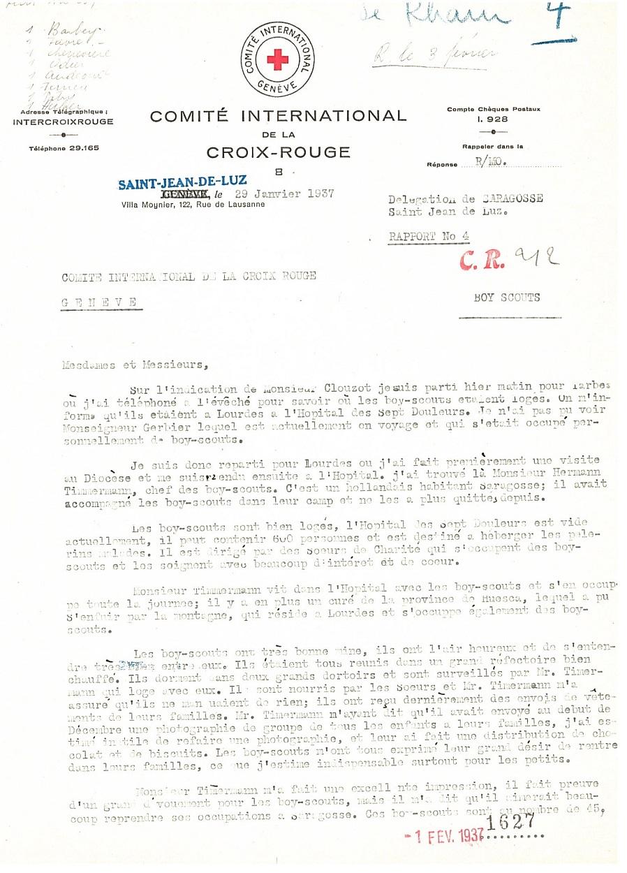 ACICR B CR 212 GEN-66, Extrait du rapport n°4 du délégué Paul de Rham