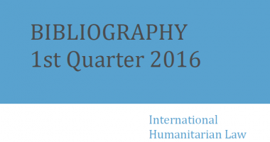 IHL Bibliography – 1st Quarter 2016