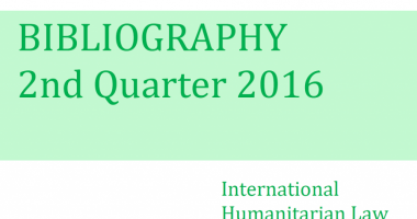 IHL Bibliography – 2nd Quarter 2016
