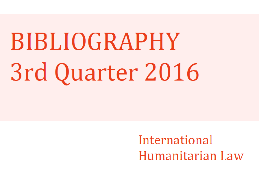 IHL Bibliography –  3rd Quarter 2016