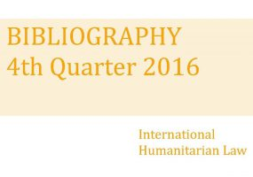 IHL Bibliography –  4th Quarter 2016
