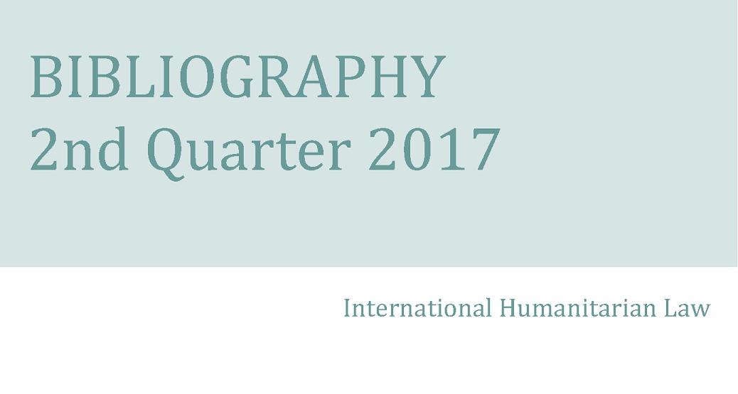 IHL Bibliography – 2nd Quarter 2017
