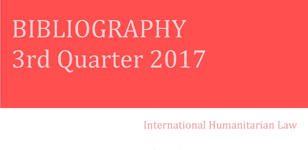 IHL Bibliography – 3rd Quarter 2017