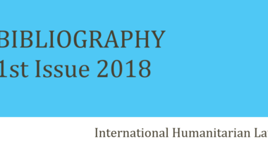 IHL Bibliography – 1st Issue 2018