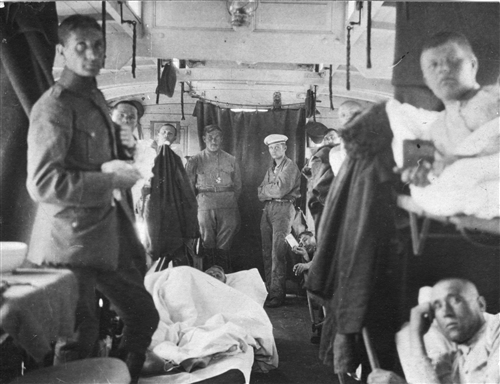 Havelburg, 1921. An ICRC hospital-train repatriating Russian Prisoners of War (A ICRC (ARR))