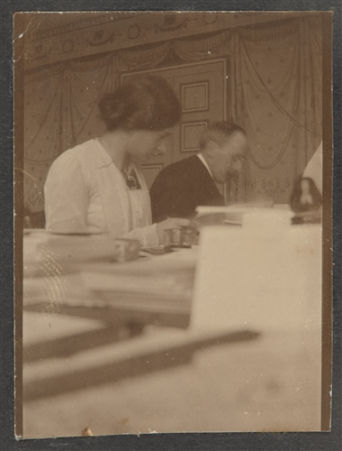 1914, Romain Rolland working in the Agency (ICRC)