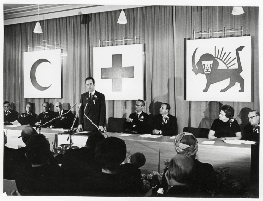 Genève, 1969. Cérémonie pour le cinquantenaire de la Ligue