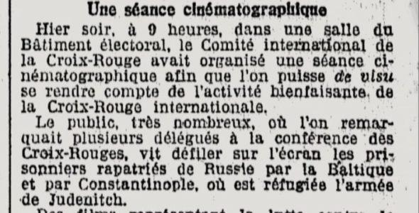 La filmographie du CICR à 100 ans. Que racontaient les films de 1921 ?
