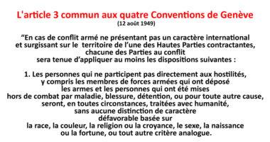 Connaissez-vous la «mini Convention de Genève» ?