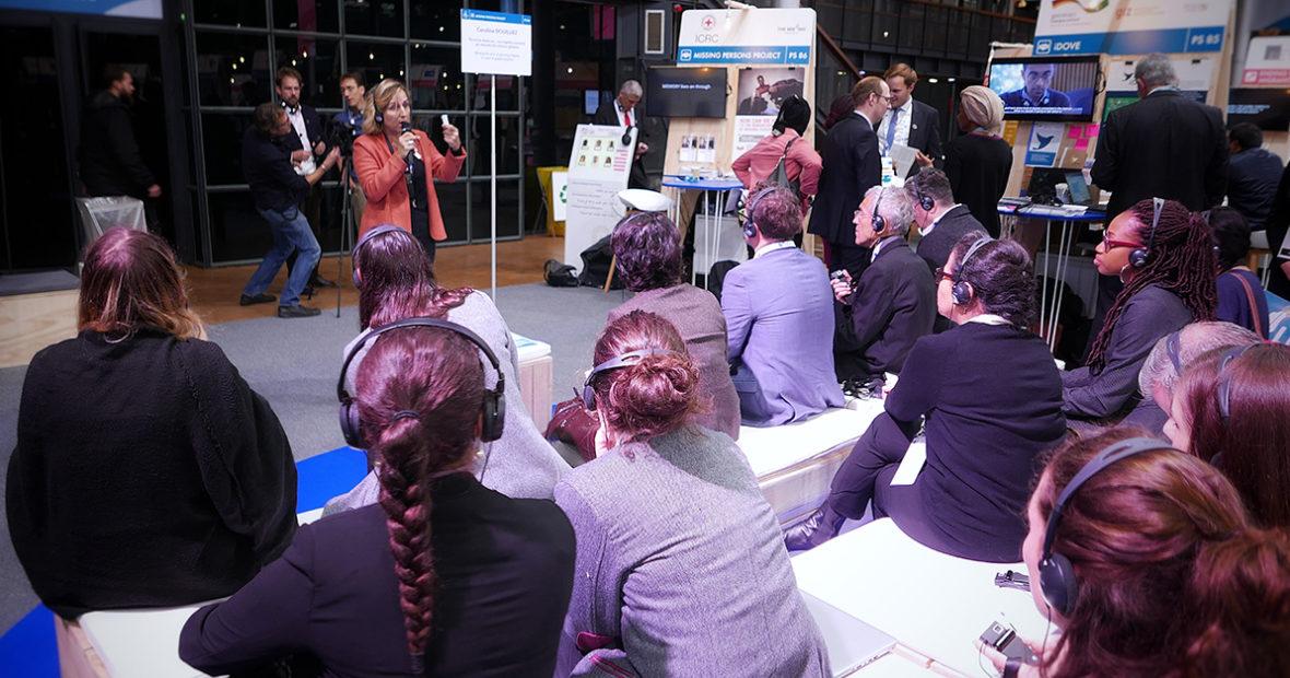 Forum de Paris sur la Paix : présentation du projet CICR sur les personnes portées disparues