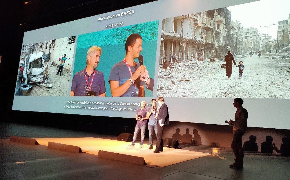 Visa pour l'Image : Abdulmonam Eassa reçoit à Perpignan le Visa d'Or humanitaire du CICR