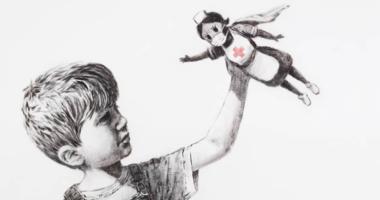 Banksy : une oeuvre aux couleurs de la Croix-Rouge