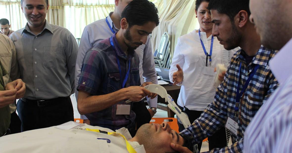 ICRC sets 3 year-agenda for emergency trauma training in Gaza-hospitals