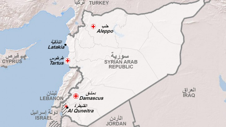 syria-map-quneitra-news | The ICRC in Israel, Golan, West ...