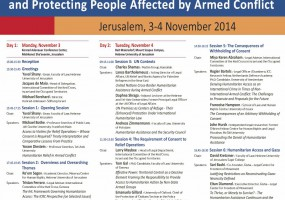 Conference: Protecting People Affected by Armed conflict – 3-4 November