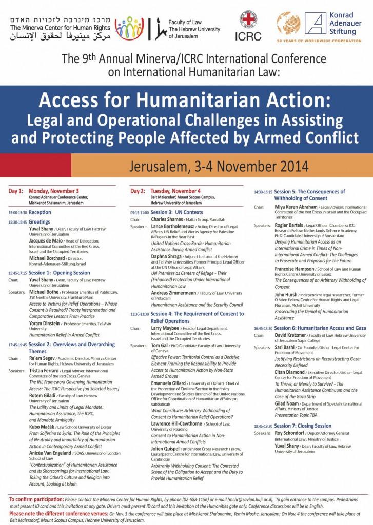 Humanitarian Access - Preliminary Program - E-Mail Distribution