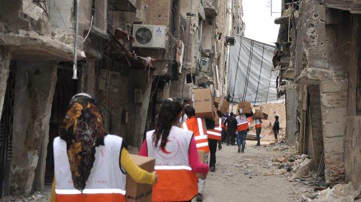 סוריה: הוועד הבינלאומי של הצלב האדום סיפק סיוע רפואי הנחוץ בדחיפות למחנה ירמוך