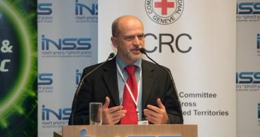 """נאומו של ראש המשלחת של הצלב האדום בכנס """"אתגרי לחימה צפופי אוכלוסין"""" בשיתוף המכון למחקרי ביטחון לאומי, תל אביב, 2 דצמבר 2014"""