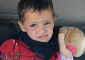 Yemen: Three-year-old Hayat walks out of rehabilitation centre
