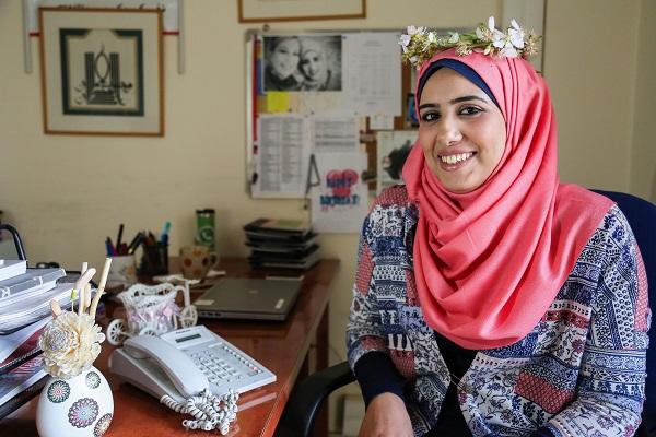 Shaymaa Almoamar. Photo: Samar Abu-Elouf