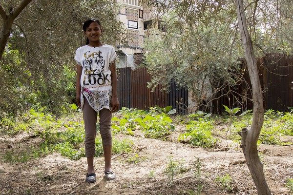 Doaa Yasseen, 11 years old, from Gaza City, lost her right hand the noon of 6 May 2015. On her way home from school, she picked up an unexploded remnant from past conflicts thinking that it was a toy. The doctor told her family if she was not transfer to the hospital in Nablus [in the West Bank] the amputation would be more severe. There, Doaa underwent eight surgical operations. Due to the complexity of the interventions, she was hospitalised for a total of 52 days.