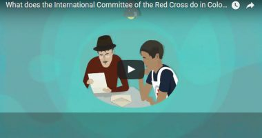 What does the International Committee of the Red Cross do in Colombia?