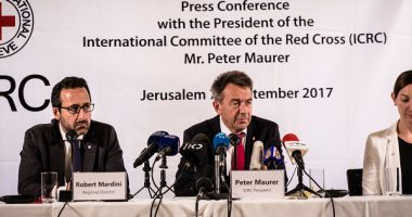 Press conference with ICRC President Mr. Peter Maurer, Jerusalem 7.9.2017