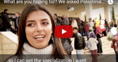 What are you hoping for? We asked Palestinian students