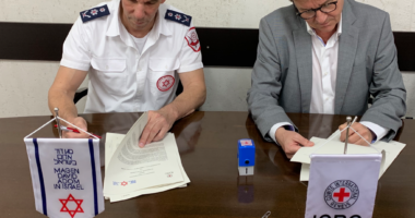 The ICRC and Magen David Adom signed a multi-year partnership agreement