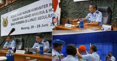 Sosialisasi Hukum Humaniter Internasional, Hukum Ham dan Hukum Udara di Lingkungan TNI AU
