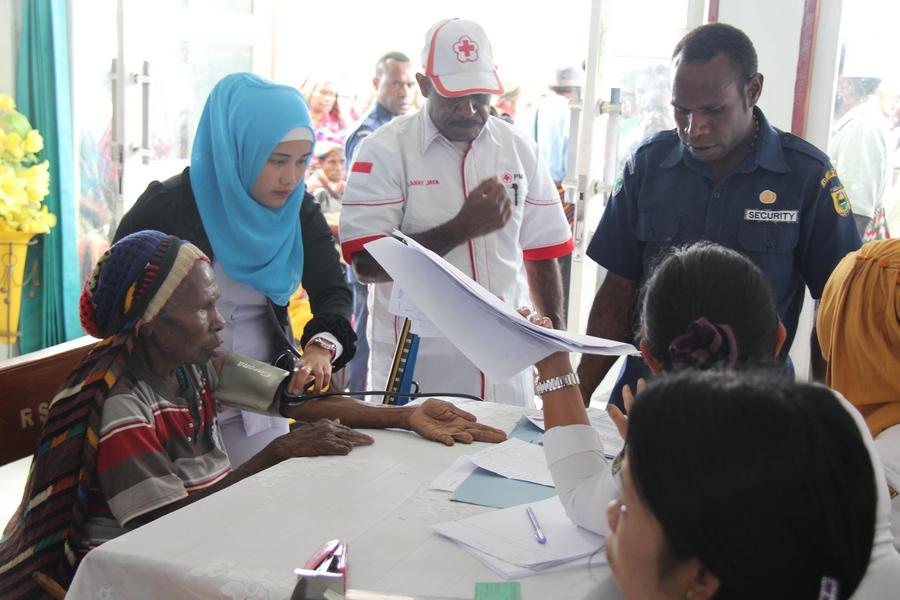 Ruang pendaftaran dimana seluruh pasien di catat data diri sebelum melakukan pemeriksaan lebih lanjut. ©Mia Pitria/ICRC