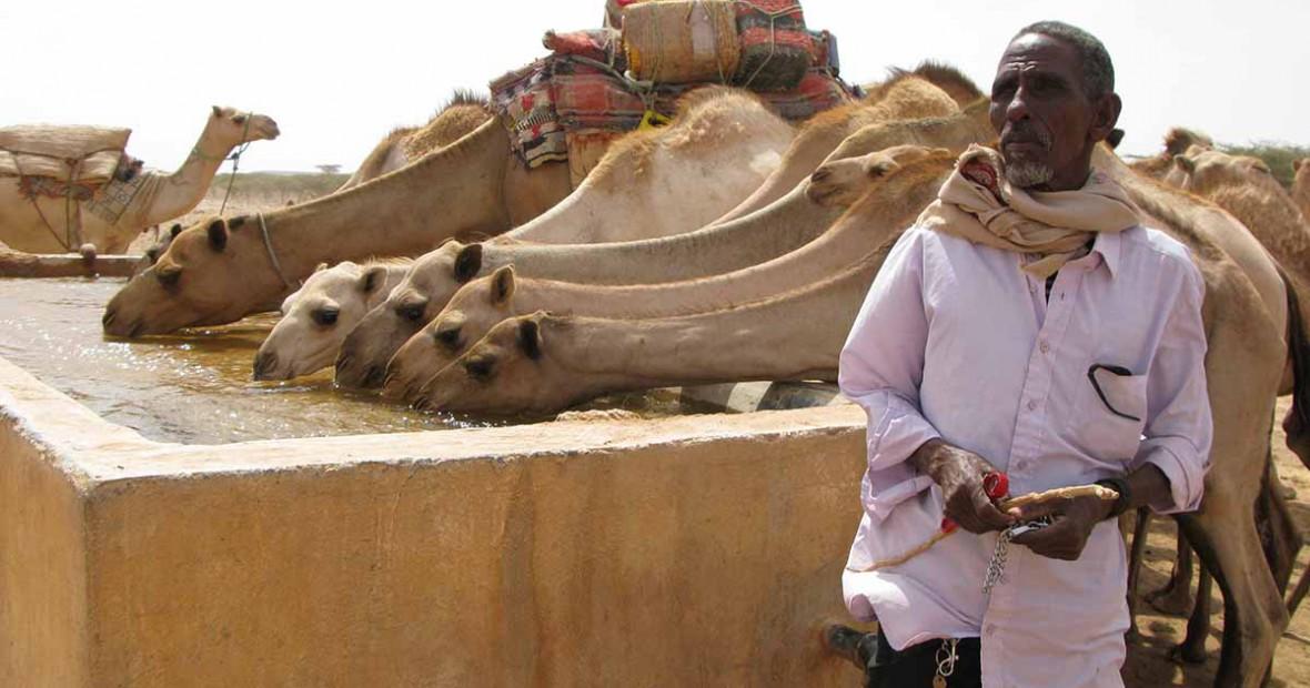 Sumur bor baru membawa kelegaan bagi penduduk Qardo