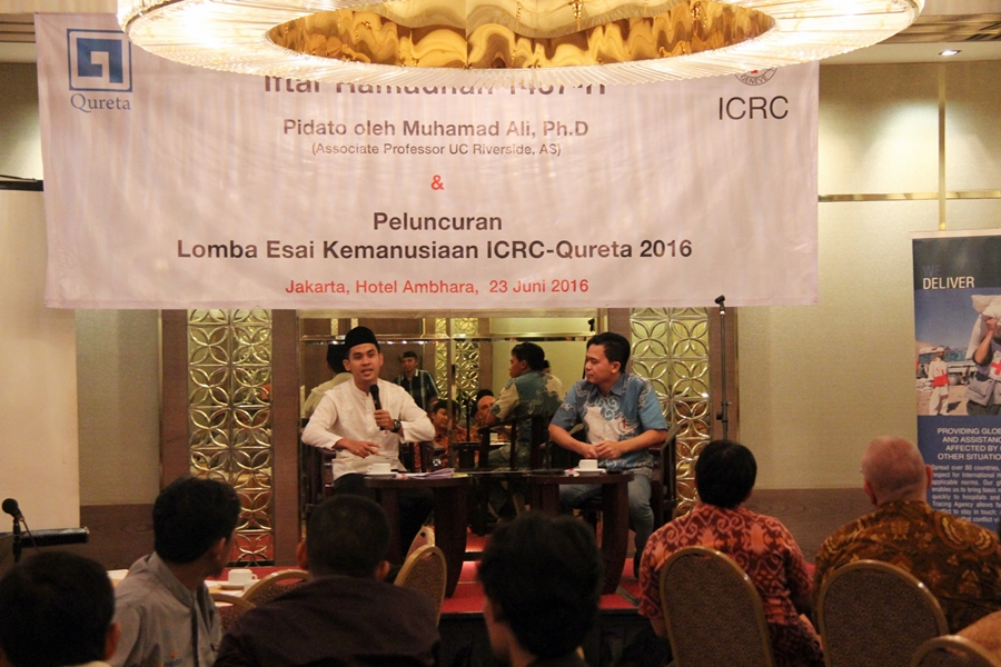 Iftar Ramadan dan Peluncuran Lomba Esai Kemanusiaan kerjasama ICRC dengan Qureta