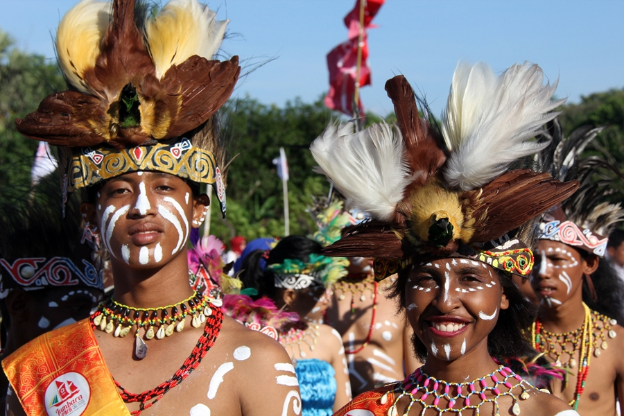 Perwakilan kontingen Papua Barat. © ICRC / Ursula N. Langouran