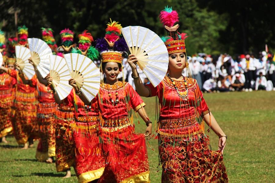 Wajah Sulawesi Selatan dalam tarian daerah. © ICRC / Ursula N. Langouran
