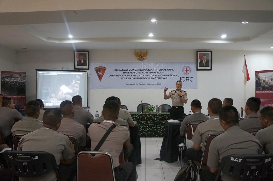 Sosialisasi bagi Brimob Aceh. ©ICRC/Maelanny Purwaningrum