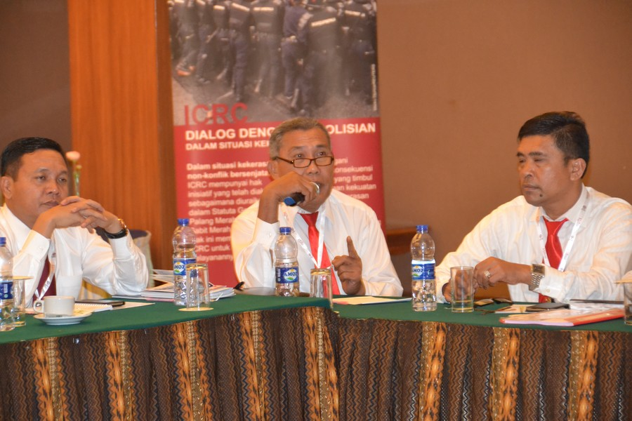 Lokakarya bagi perwira Reskrim Polda Sumut. ©ICRC/Maelanny Purwaningrum