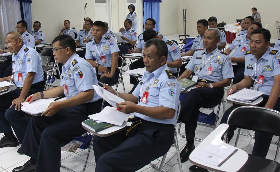 ICRC dan TNI AU upayakan perdalam pengetahuan HHI bagi 40 perwira Lanud Sulaiman
