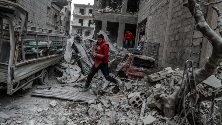 Suriah: Bantuan penting pertama menjangkau orang-orang yang terjebak di Ghouta Timur