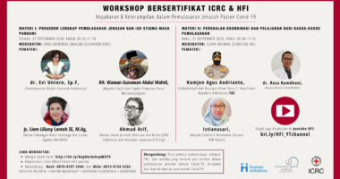Lokakarya Daring tentang Manajemen Jenazah Pasien COVID-19 di Indonesia