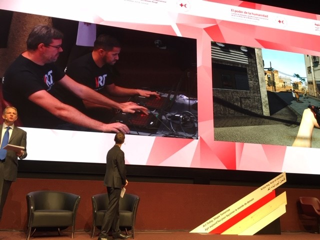 ICRC's Virtual Reality Unit Puts International Conference Participants into a Virtual Battlefield
