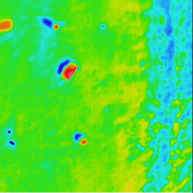 Thermal image captured by drone