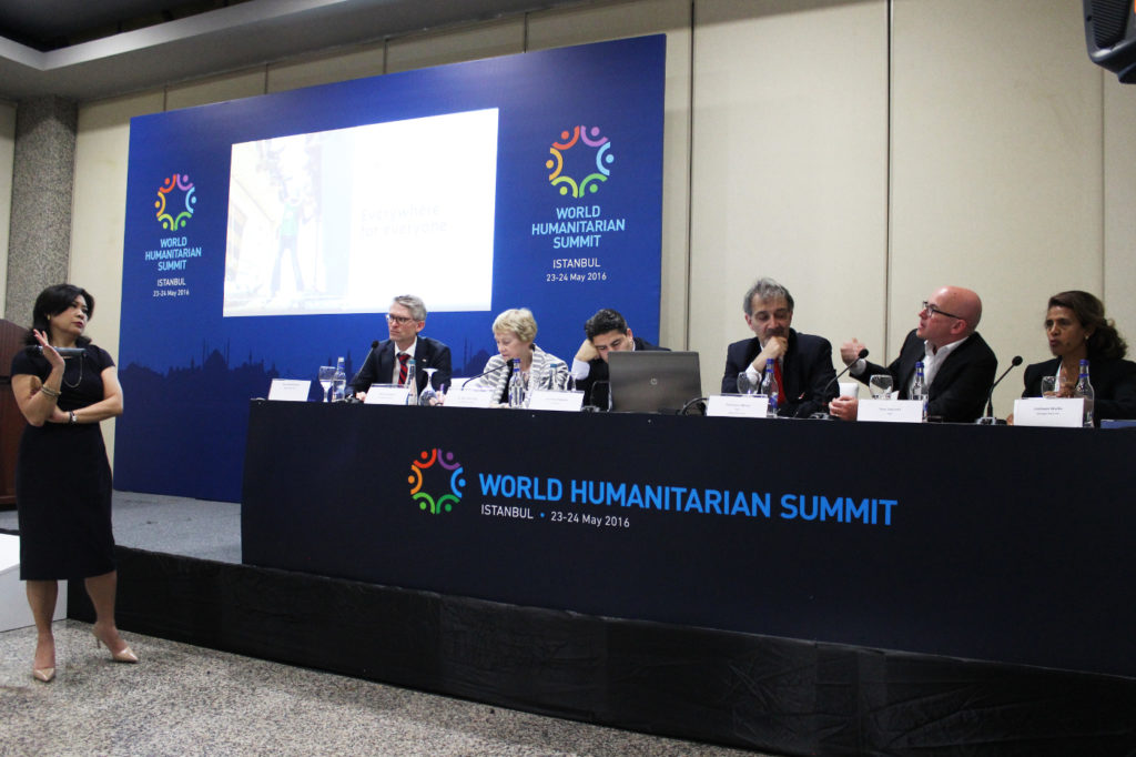 Red Cross Red Crescent leaders at World Humanitarian Summit side event on migration