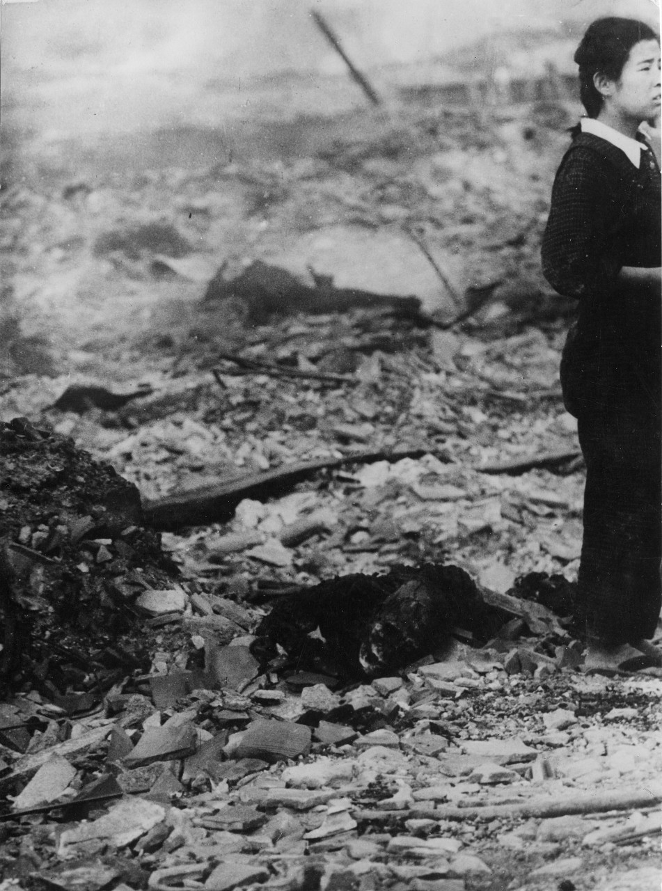 World War II. Nagasaki after the explosion of the atomic bomb. © ICRC Archives