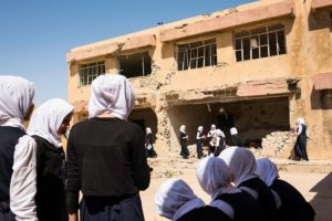 Three reasons why education needs the support of humanitarian actors in conflict zones - Anbar, Ramadi, Al-Raja secondary school for girls. The school was founded in 1980 and moved to its current location in 2010. It was in large part destroyed during the last conflict. Photo Credit: R, HAMMOND/ICRC 2017
