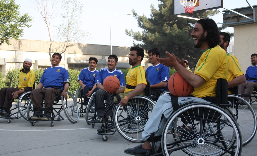 Afghanistan wheelchair basketball players carry the ball to Italy for first time