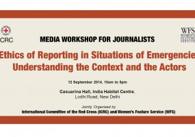 Women's Feature Service, ICRC announce workshop on ethics of reporting in emergencies
