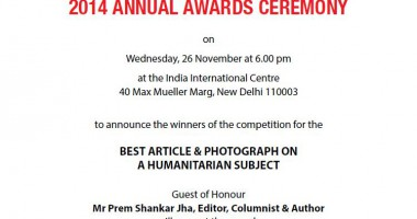 ICRC-PII 2014 Annual Awards to be held at IIC New Delhi on 26 November