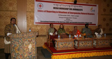ICRC-Journalists' Association Bhutan hold media workshop on ethics of reporting in emergencies
