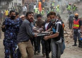 Red Cross Relief Supplies being Flown to Kathmandu